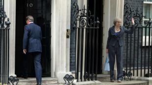 L'ex- ministre de l'Intérieur Theresa May sortant du 10 Downing Street, à Londres, le 27 juin 2016.
