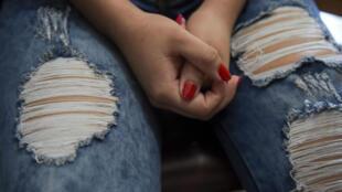 Pamela, ex trabajadora sexual y policía venezolana, de 20 años. Archivo.