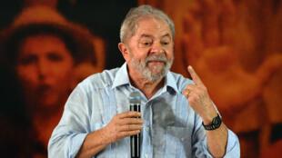 L'ex-président brésilien Luiz Inacio Lula da Silva le 25 janvier 2018 à Sao Paulo
