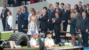 Le défilé du 14 juillet à Paris, en 2017, placé sous le signe de l'amitié franco-américaine.