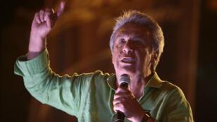 Lenin Moreno, ancien président de l'Équateur, se présente comme le continuateur de Rafael Correa.
