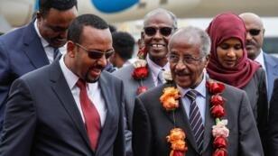رئيس الوزراء الإثيوبي أبيي أحمد يستقبل وزير الخارجية الإريتري عثمان صالح في أديس أبابا 26 يونيو 2018