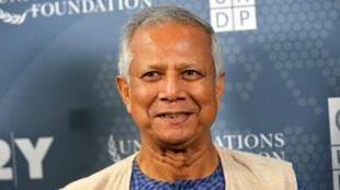 Muhammad Yunus, en septembre 2014 à New York