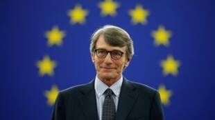El italiano David-Maria Sassoli tras ser elegido como nuevo presidente del Parlamento Europeo en Estrasburgo, Francia, el 3 de julio de 2019.