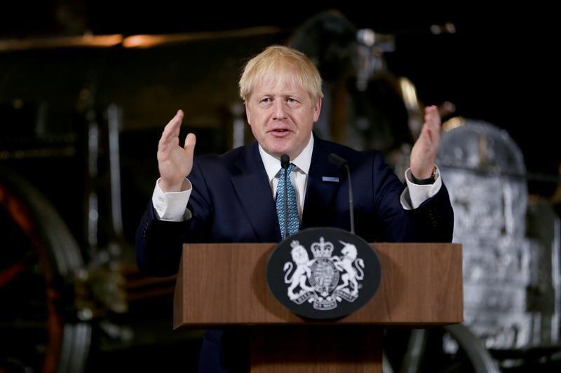 رئيس الوزراء البريطاني بوريس جونسون - مانشستر. 27 يوليو/ تموز 2019