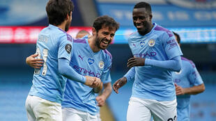 David Silva (left) shone for Manchester City in one of his final games at the Etihad Stadium