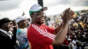 Maurice Kamto, líder del MRC, en Yaundé, el 30 de septiembre de 2018.