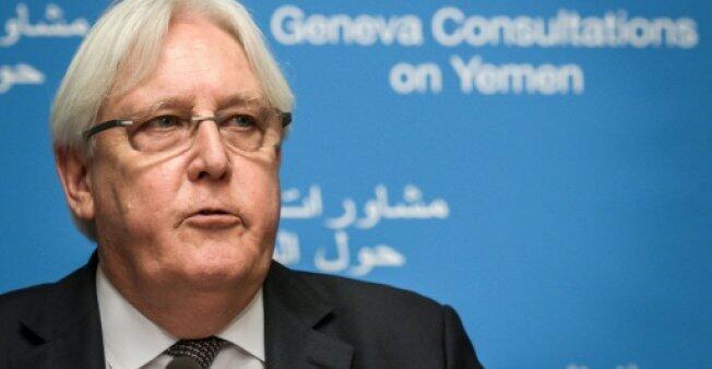 المبعوث الأممي إلى اليمن مرتن غريفيث في جنيف، في 5 أيلول/سبتمبر 2018