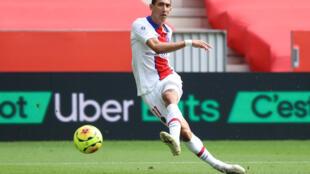 L'attaquant du Paris-SG, Angel di Maria, lors du match de Ligue 1 à Nice, le 20 sesptembre 2020