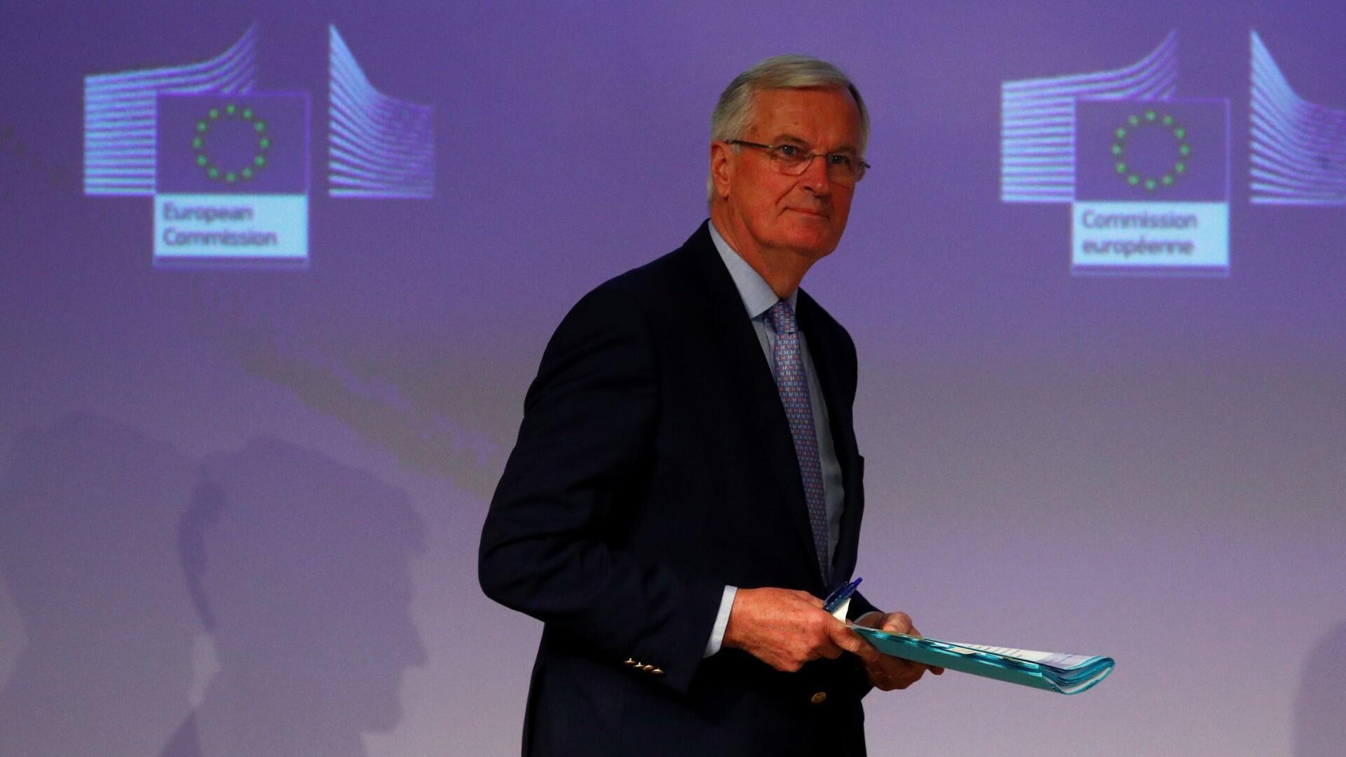 Le négociateur en chef de l'UE, Michel Barnier, lors des discussions sur l'accord commercial du Brexit à Bruxelles, le 15 mai 2020.