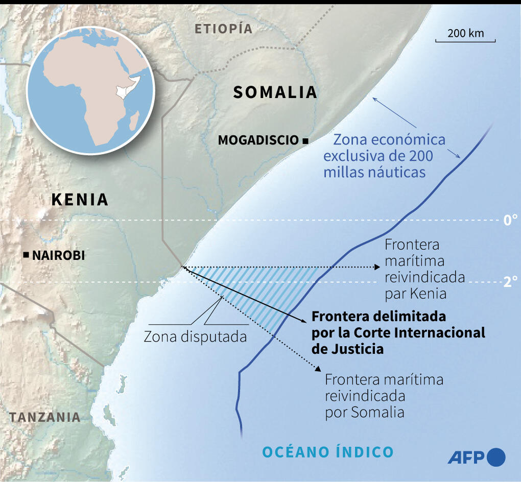 Dispute over the maritime border between Kenya and Somalia