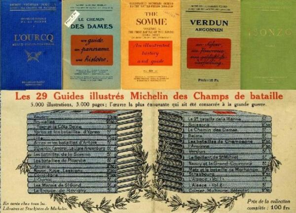 Les premiers guides illustrés des champs de bataille par Michelin