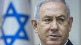 Benjamin Netanyahu préside une réunion de cabinet à Jérusalem, le 6mai2018.