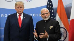 Donald Trump et le Premier ministre indien Narendra Modi, en marge du G20 à Buenos Aires, en novembre 2018.