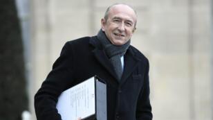 Le ministre de l'Intérieur Gérard Collomb à l'Élysée, le 12 janvier 2018.