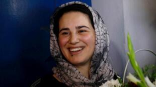 La periodista marroquí Hajar Raissouni es liberada de prisión en Sale, cerca de la capital Rabat, en Marruecos, el 16 de octubre de 2019.