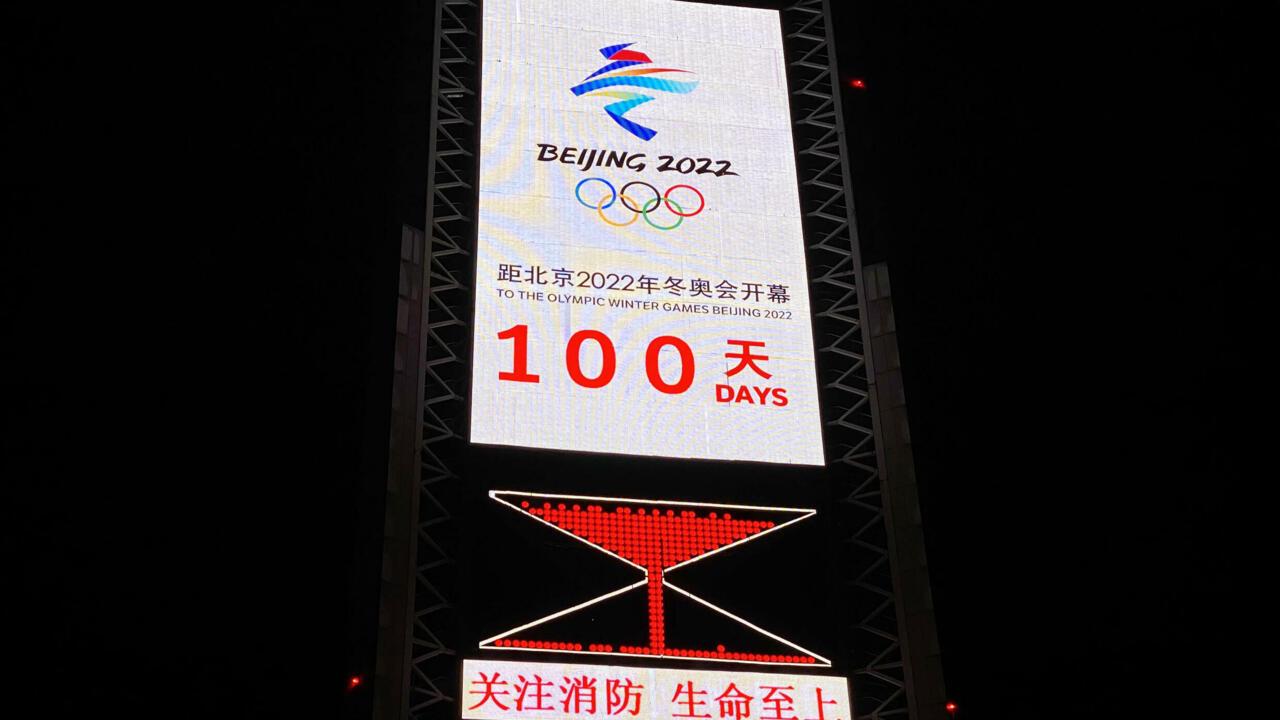 Image Beijing Games organisers say virus 'biggest challenge', 100 days from start