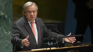 In this file photo taken on September 24, 2019 UN Secretary General António Guterres speaks at the 74th session of the United Nations General Assembly in New York.