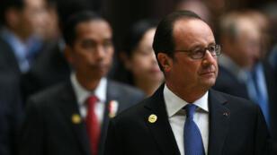 Le président François Hollande lors du sommet du G20 en Chine, à Hangzhou, le 4 septembre 2016.