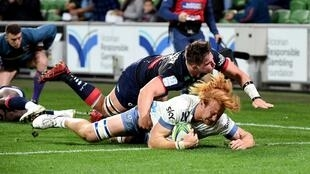 The Blues crushed the Melbourne Rebels 50-3