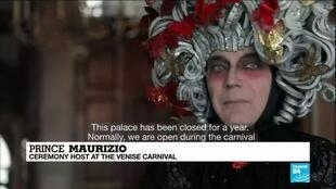 2021-02-15 08:24 Venice carnival: Empty streets and canals as city celebrates annual event