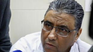 Le journaliste égyptien Mahmoud Hussein, le 11 février 2020 à la prison de Tora, au Caire