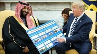 Donald Trump a reçu le prince héritier saoudien à Washington le 20 mars 2018.
