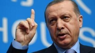 الرئيس التركي رجب طيب أردوغان في 5 أيلول/سبتمبر 2016