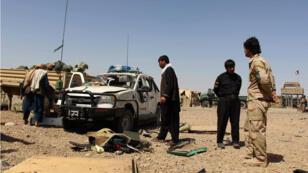 Une voiture piégée avait explosé à proximité d'une base de la police afghane à Nad Ali dans le Helmand, le 14 mai 2016.