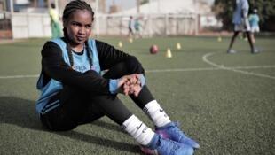 لاعبة كرة القدم السودانية ريان إبراهيم رجب.