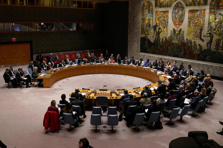 مجلس الأمن الدولي يجتمع حول الوضع في سوريا في مقر الأمم المتحدة في حي مانهاتن بمدينة نيويورك، الولايات المتحدة، 28 فبراير/ شباط 2020