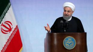 Le président iranien Hassan Rohani, photographié à Téhéran, en octobre 2017.