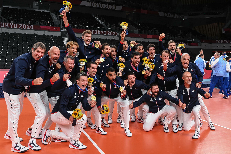 La joie des volleyeurs français
