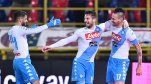 Lorenzo Insigne, Dries Mertens et Marek Hamsik, trois atouts majeurs du Napoli.