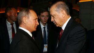Vladimir Poutine et Recep Tayyip Erdogan en octobre 2016 à Istanboul.