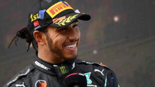 Le Britannique Lewis Hamilton à Istanbul le 15 novembre 2020