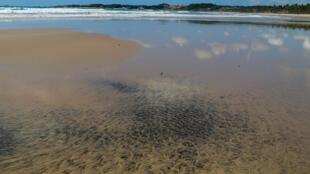 La playa de Praia do Paiva en Cabo de Santo Agostinho, estado de Pernambuco, Brasil es una de las más afectadas por la contaminación