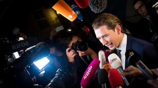Austria's Foreign Minister and leader of Austria's centre-right People's Party (OeVP) Sebastian Kurz was buffeted by a graft scandal a year ago