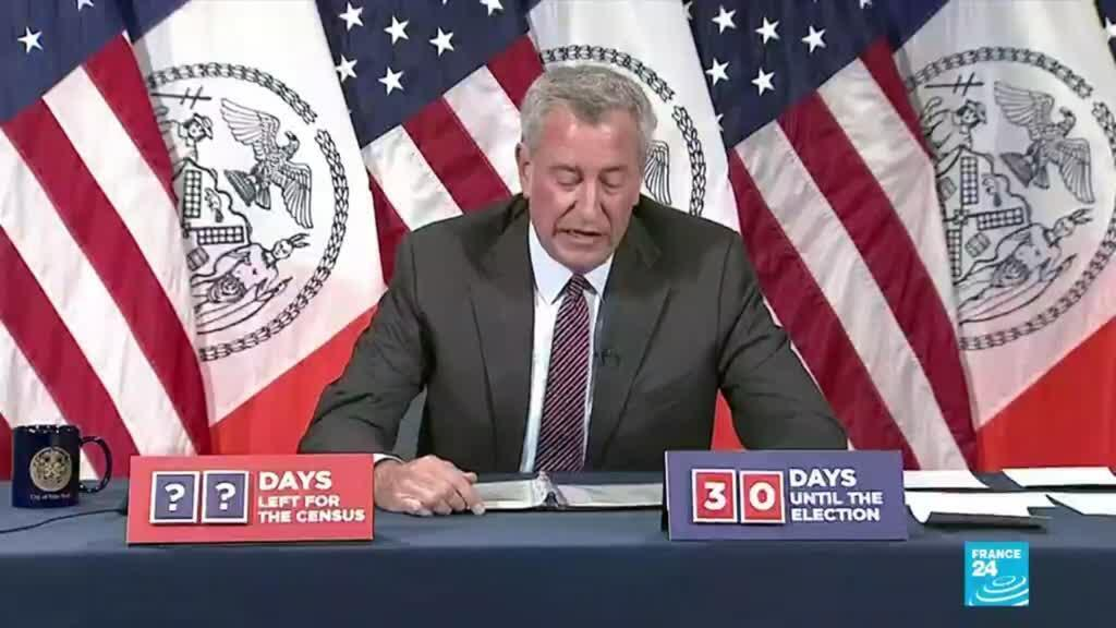 2020-10-05 09:07 New York City Mayor Bill De Blasio announces new Covid-19 lockdown measures