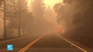 صورة ملتقطة عن الشاشة. حرائق كاليفورنيا.