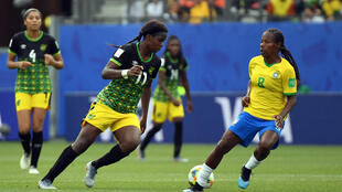 Formiga (R) played in her seventh World Cup in France last year