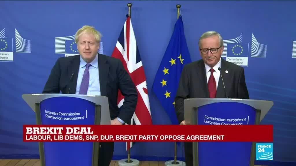 2019-10-17 14:38 Brexit Deal: Boris Johnson, Jean-Claude Juncker hold press conference