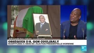 2020-07-17 12:07 Obsèques d'A.Gon Coulibaly : cérémonie d'inhumation du 1er ministre ivoirien