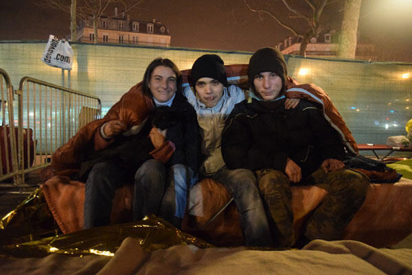 From left to right: Bernadette, 36, her partner Diego and son Rémi, both 19.