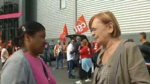 La députée sortante communiste Marie-Georges Buffet lors de sa campagne.