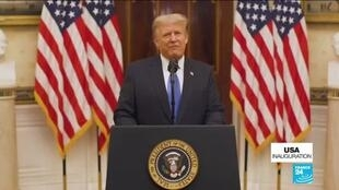 2021-01-20 09:04 In farewell address, Trump urges prayers for next administration without mentioning Biden