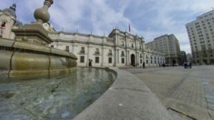 """""""La Moneda"""", el palacio presidencial en Santiago, Chile"""