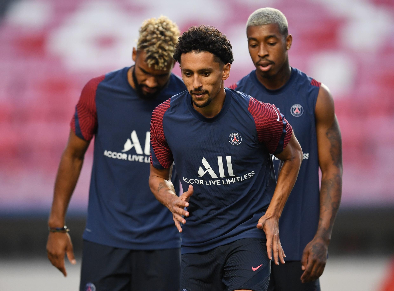 Marquinhos à l'entraînement le 22 août 2020 à Lisbonne.