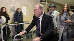 Harvey Weinstein leaves his sexual assault trial at New York Criminal Court in the Manhattan borough of New York City, January 22, 2020.