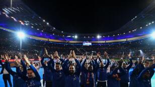 L'équipe de France face à son public au Stade de France, le dimanche 9 septembre 2018.